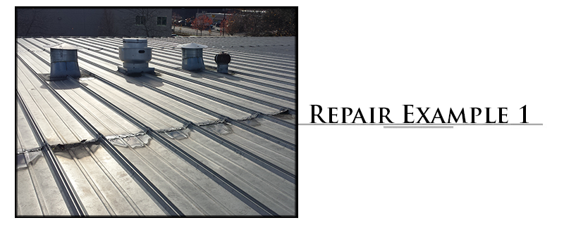 Commercial Metal Roofing Repair Example #1