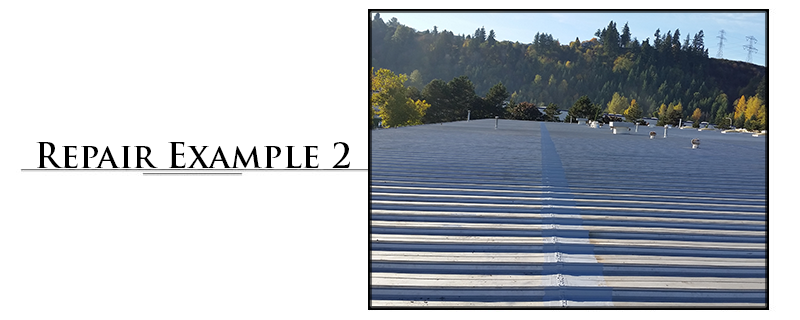 Commercial Metal Roofing Repair Example #2
