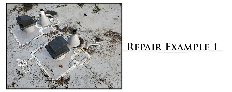 Commercial TPO Roofing Repair Example #1