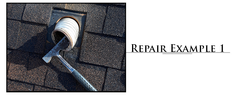 Residential Composition Roofing Repair Example #1