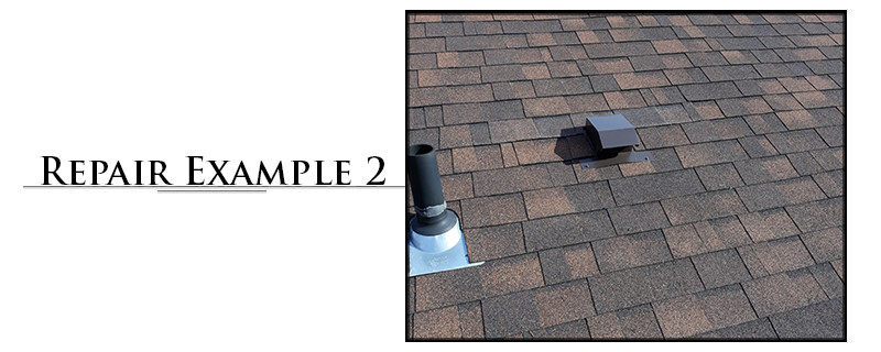 Residential Composition Roofing Repair Example #2