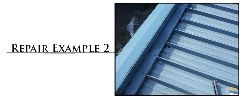 Residential Metal Roofing Repair Example #2