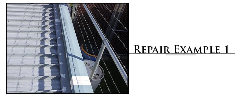 Residential Metal Roofing Repair Example #1