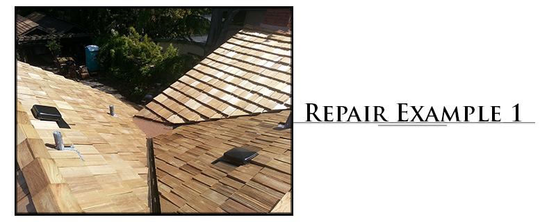Residential Cedar Shake Roofing Repair Example #1